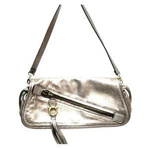 Salvatore Ferragamo Bronze Clutch/Shoulder Bag